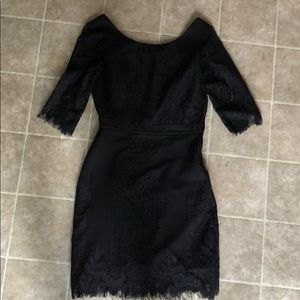 Black lacey cocktail dress